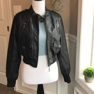 Body Central leather jacket M